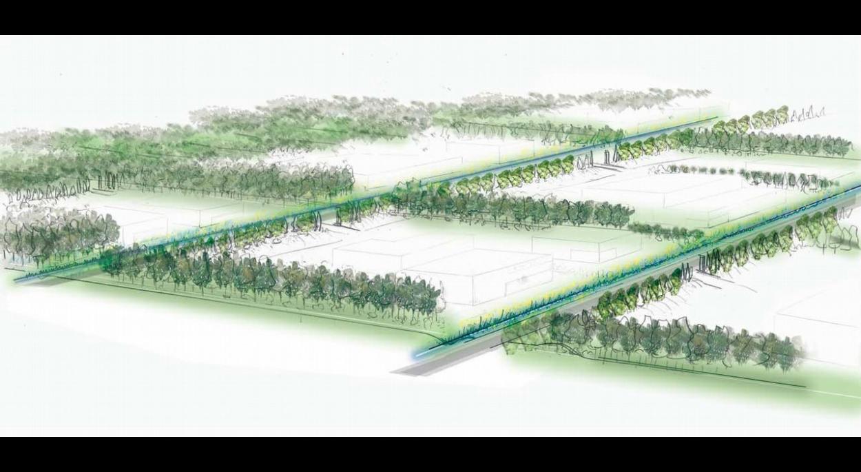 Site SNPE - 3 Chênes / Plan de référence (270 ha) / Bocage d'activités