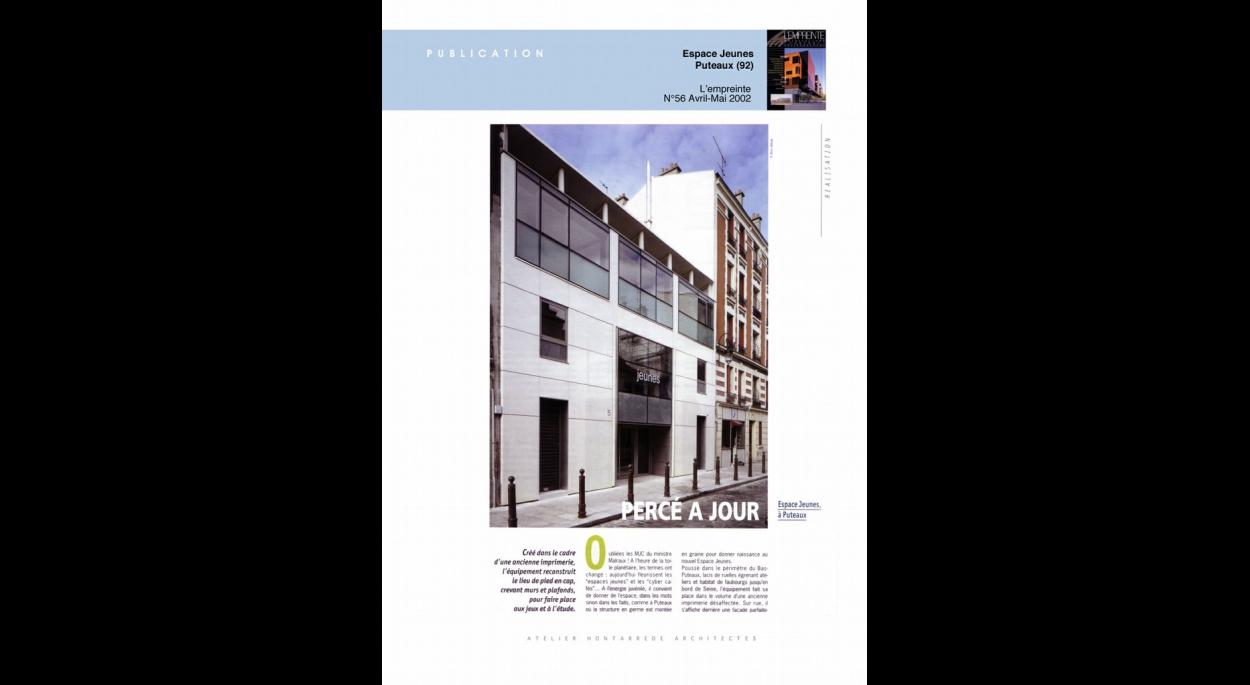 Publication L'empreinte n°56 - 2002