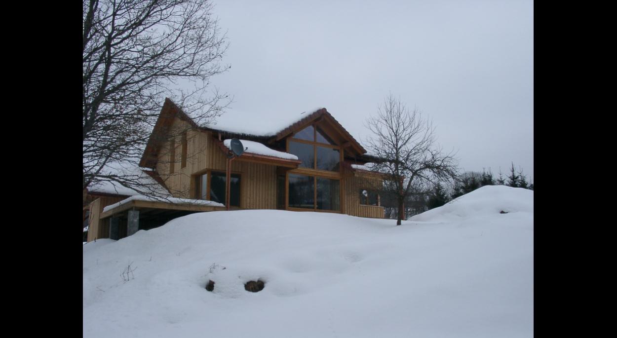 maison ossature bois bioclimatique maison passive solaire Vosges