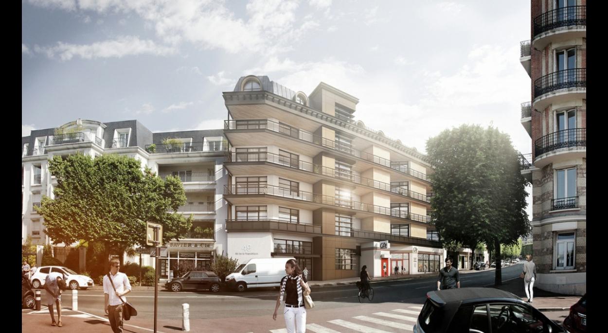 projet de logement et d'une agence bancaire à St Cloud avec Urbi & Orbi