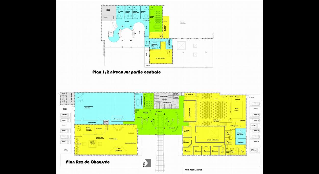 Architecture Eric Agro plan intérieur