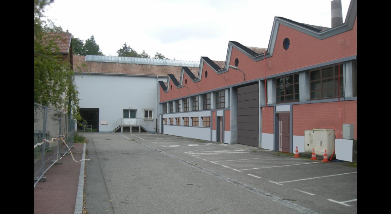 Réhabilitation des locaux sinistrés du Centre Technique Municipal de Sausheim