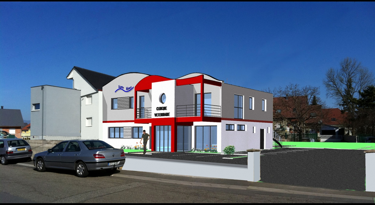Construction d'une clinique vétérinaire et de 3 logements à Wittenheim