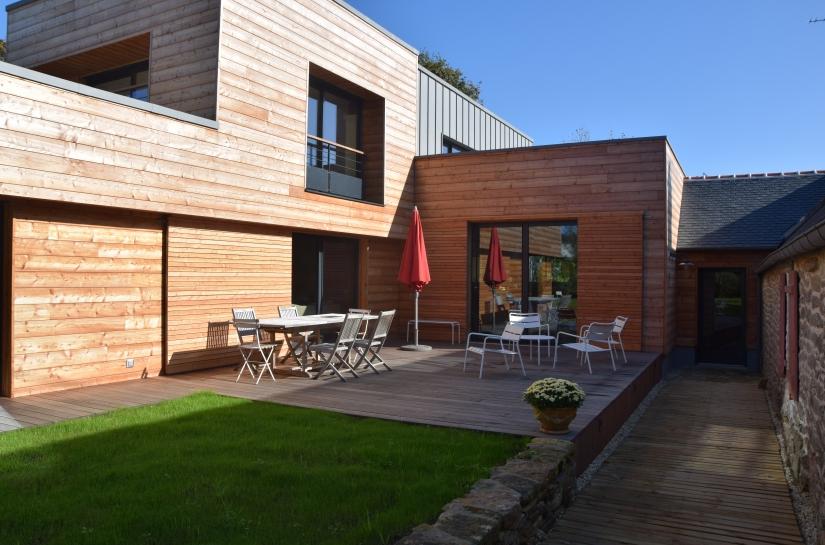 olivier samzun architecte maison à Combrit Sainte Marine. Maison à ossature bois, maison bioclimatique