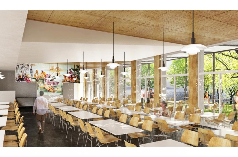 RESTAURATION DU LYCEE GUSTAVE MONOD - ENGHIEN-LES-BAINS  salle à manger
