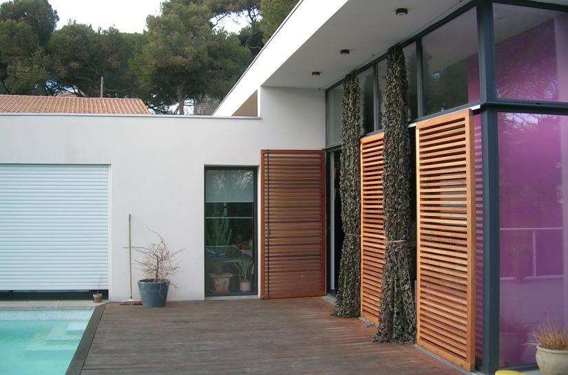 Terrasse ouest sur piscine