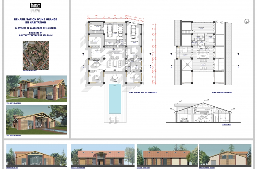 Plans projet - Maison G