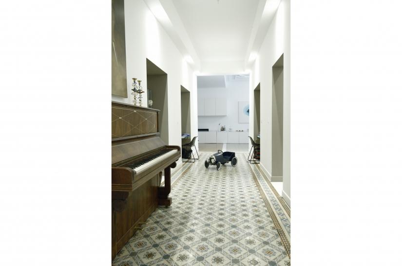 Restructuration d'un appartement familial de 170m² - Vue du hall