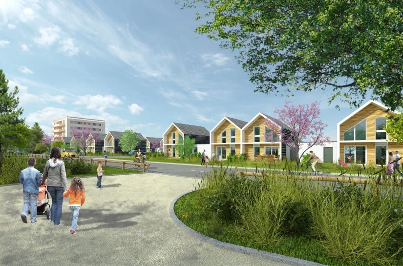 Champforgeuil - Construction de 20 logements BBC ossature bois
