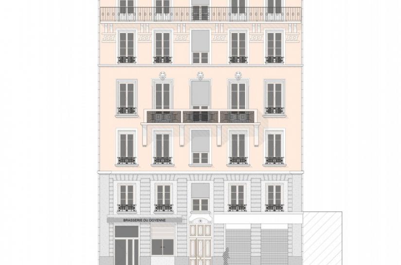 Immeuble Doyenné - plan de façade sur avenue du Doyenné