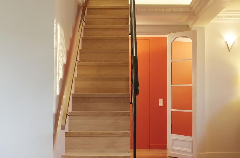 Escalier bois-Création d'un duplex-Ouverture d'une trémie