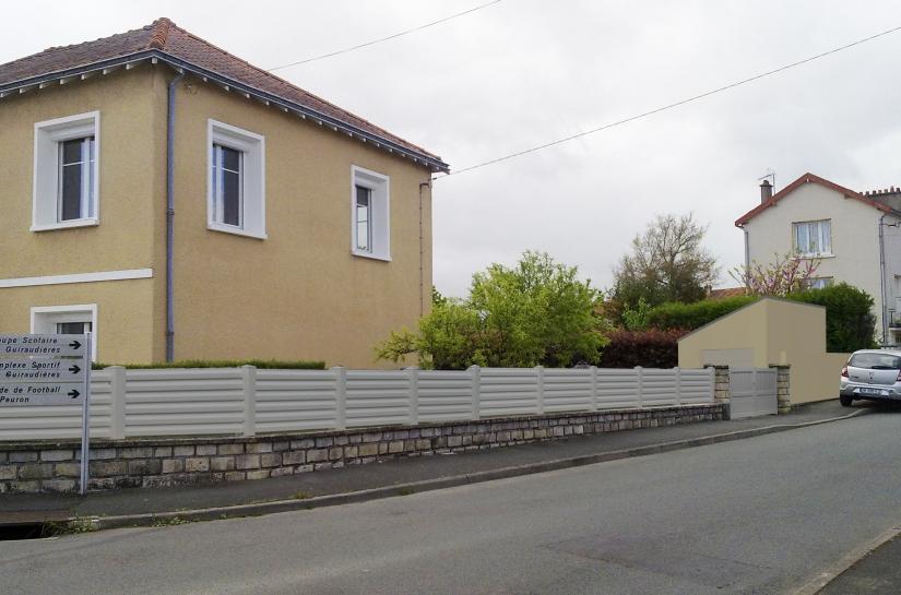 construction d'un garage atelier et rénovation clôtures