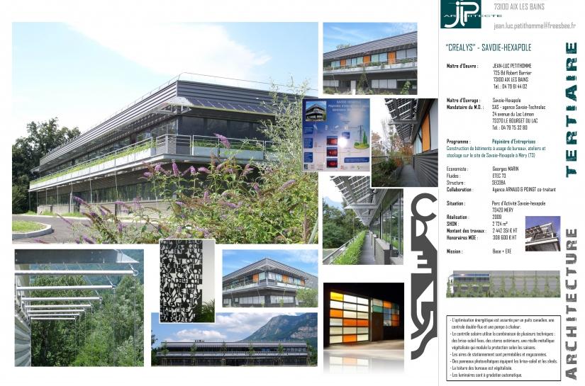 """Pépinière d'entreprises """"CREALYS"""" à Méry (73) - JLP architecte / Arnaud & Poingt co-traitant"""