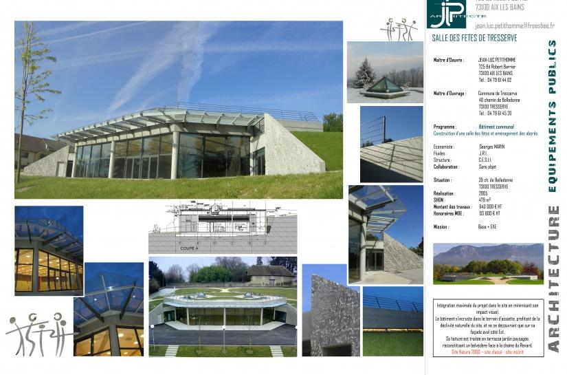 Salle communale de Tresserve - JLP architecte