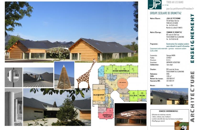 G.S Drumettaz - JLP architecte
