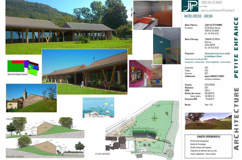 Micro-crèche et ludothèque à Grésin - JLP architecte / Agence Arnaud et Poingt Mandataire