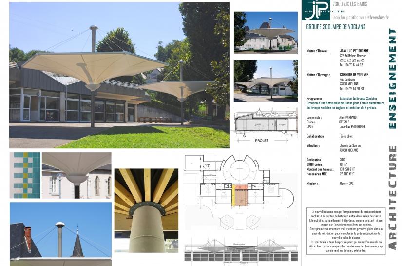 Extension G.S. Voglans - JLP architecte