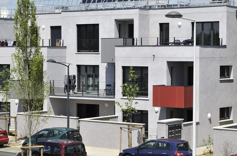 Lotissement Loeze - 56 logements intermédiaires BBC - Photo Semaphore - Civita