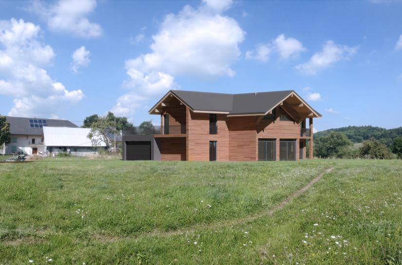 Conception d'une maison individuelle contemporaine bois