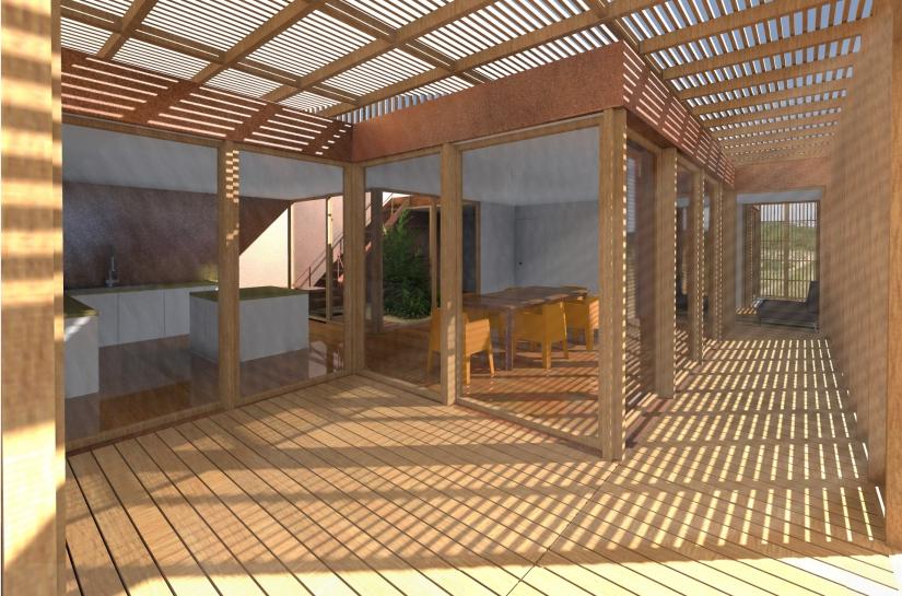 SL20 ARCHITECTURE - Maison de vancances - La Terrière - vue extérieur