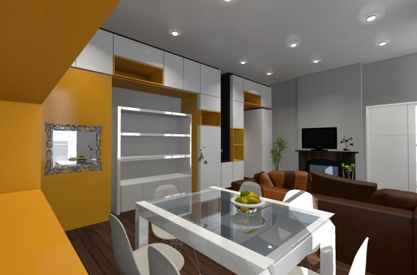Appartement SP - perspective sur salon