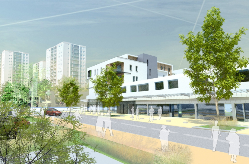 Teraillon Tranche 3 - Réhabilitation HQE d'un centre commercial - XXL Atelier