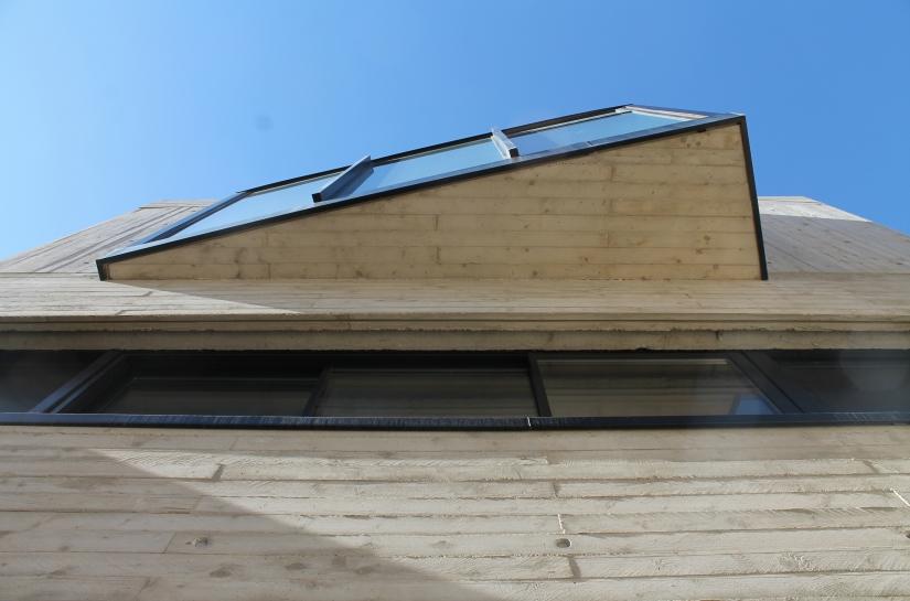 Détail des coffrages béton utilisés pour le traitement de la façade