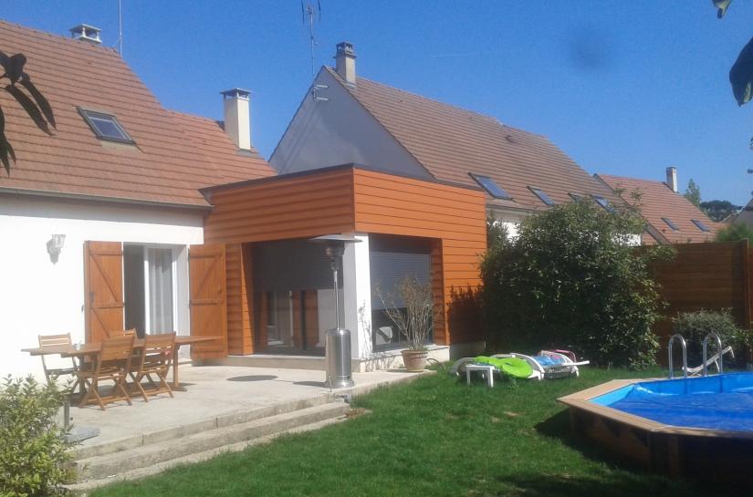 Extension bois architecte esbly isles-les-villenoy