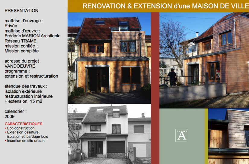 Extension et rénovation d'une maison - construction bois