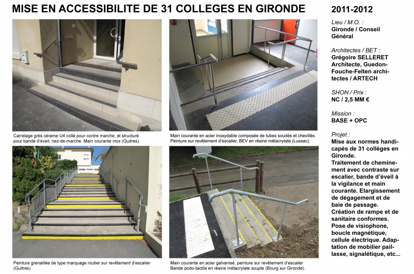 Mise aux normes accessibilité handicapés