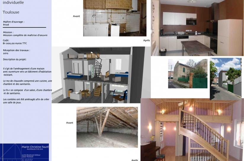 Rénovation d'une maison individuelle