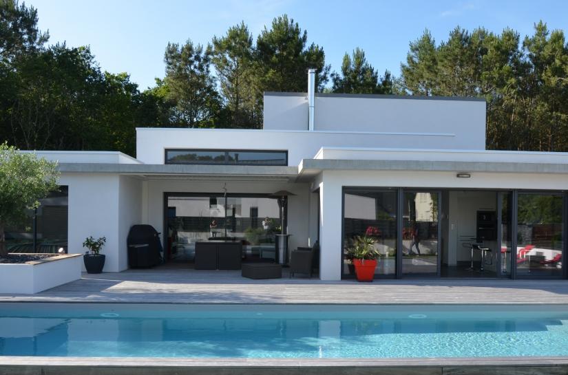 Maison individuelle Brech Auray 56 Bretagne sud Christophe Le Moing architecte