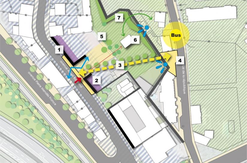 Îlot Murat - Etude de capacité pour le renouvellement urbain d'un ancien tènement industriel en entrée de ville - Civita - XXL Atelier