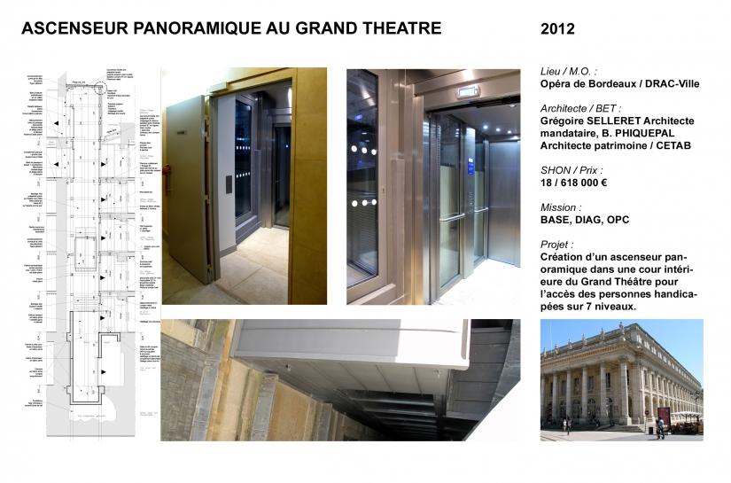 Ascenseur panoramique pour personnes handicapées