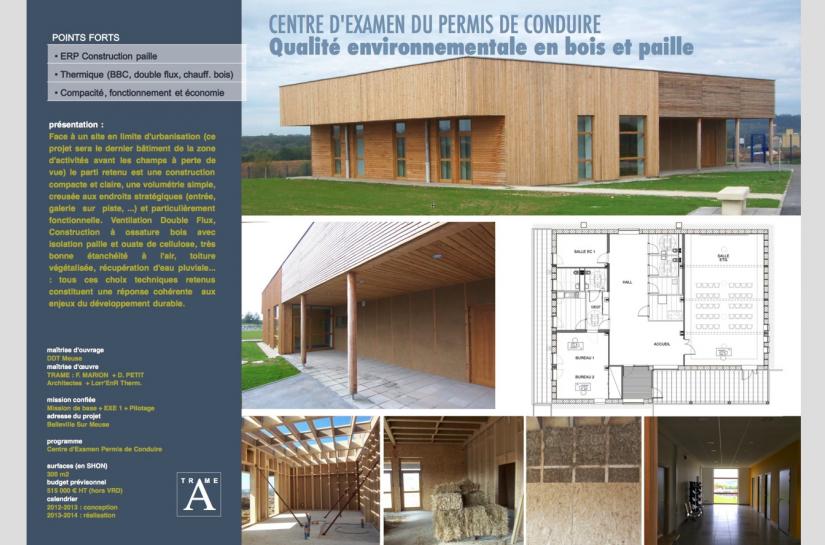 Eco-construction pour un bâtiment public bois, terre et isolation paille