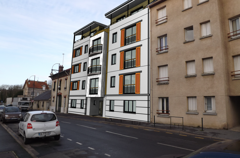 Immeuble collectif standing appartements Meaux