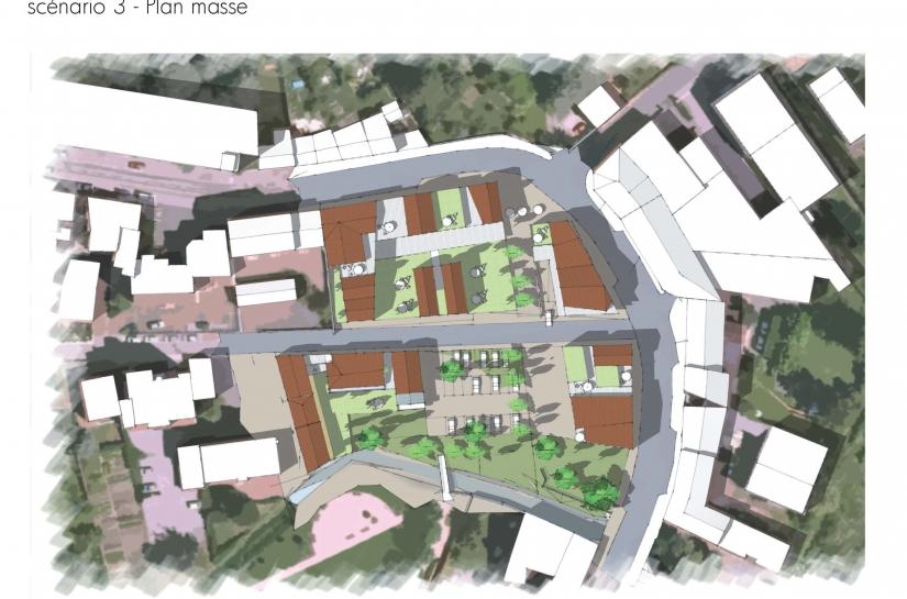 Secteur Mairie de la Fouillouse - Etude de composition et de programmation urbaine - Civita - XXL Atelier