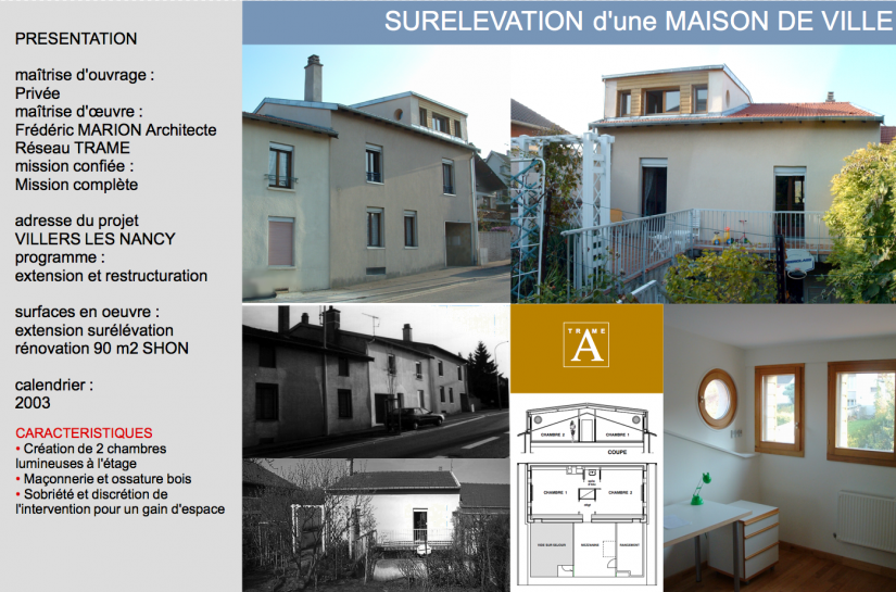 SURELEVATION D'UNE MAISON