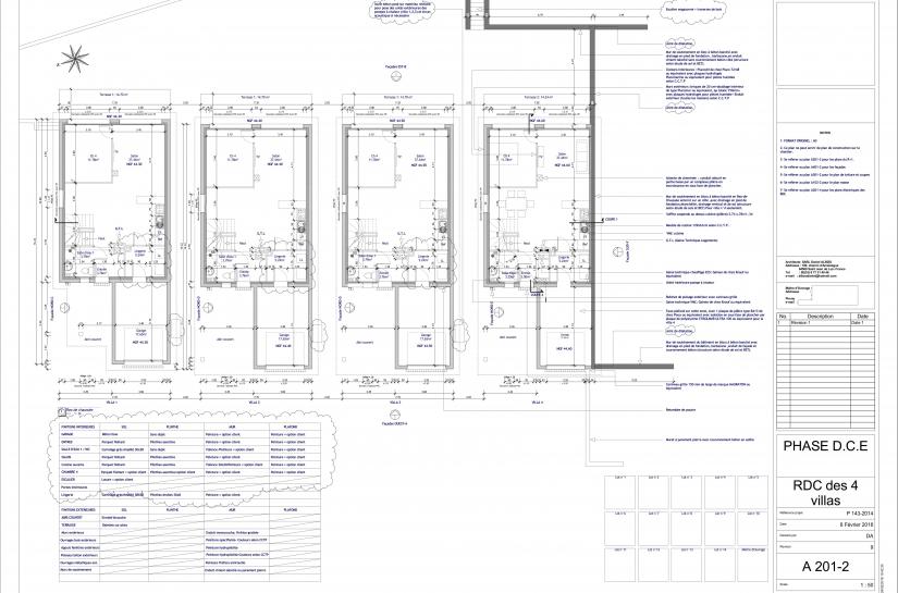 Plan des RdC - Ground floors plan