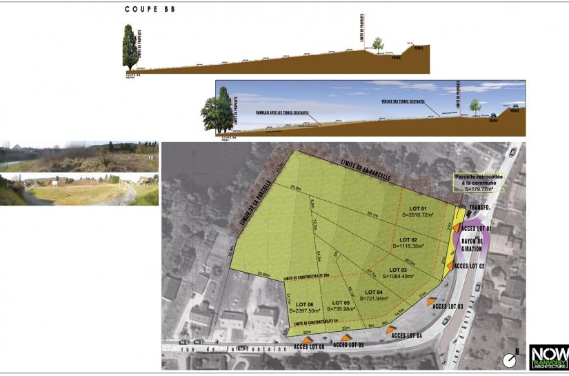 Accès à la parcelle-Marges de reculs-Orientation-Voirie et aire de retournement-Déblais-Remblais-Profil du terrain