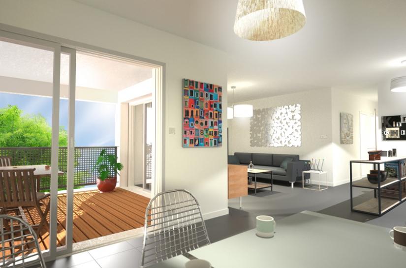 """Résidence """"Le Clos du Soleil"""" - vue d'un appartement"""