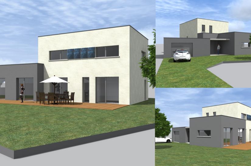 Surface de plancher :  135 m²