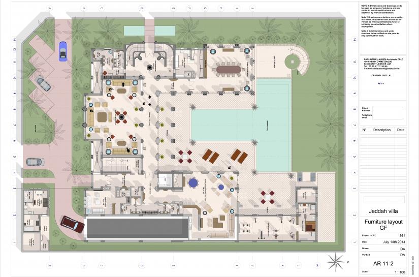Plan de mobilier RdC - Ground floor furniture layout