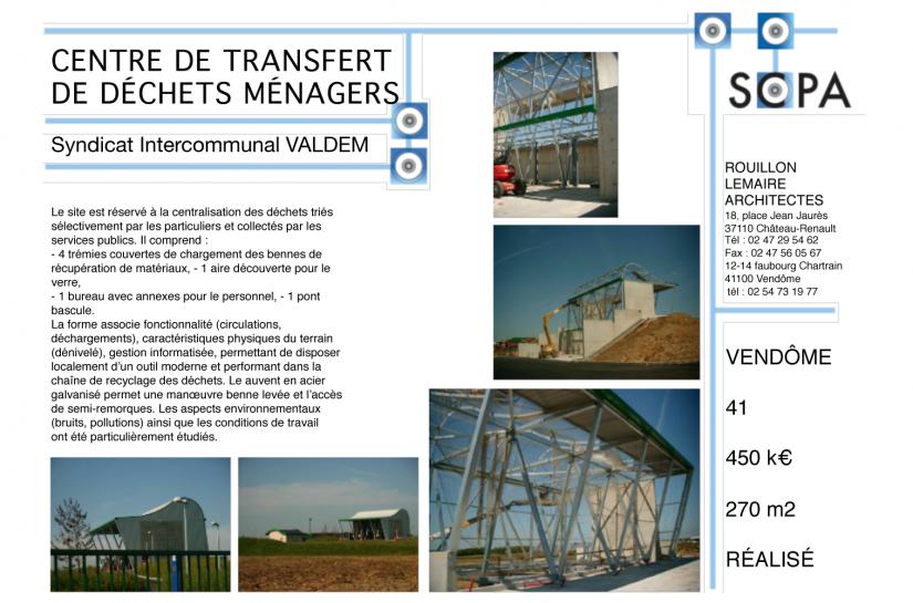 CENTRE DE TRANSFERT DES ORDURES MÉNAGÈRES