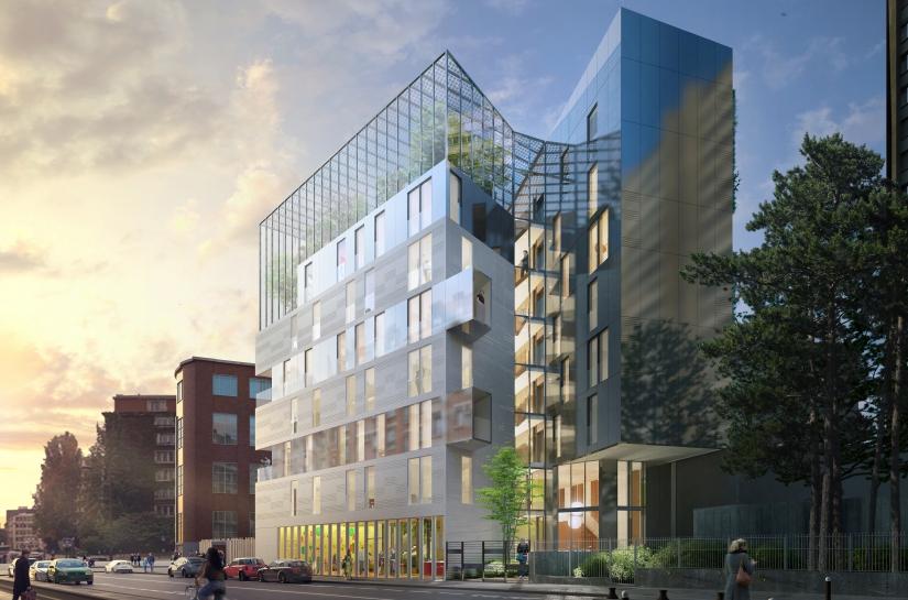 """35 logements BEPOS - A.P.U.I """"Réinventer Paris"""" - Site Edison"""