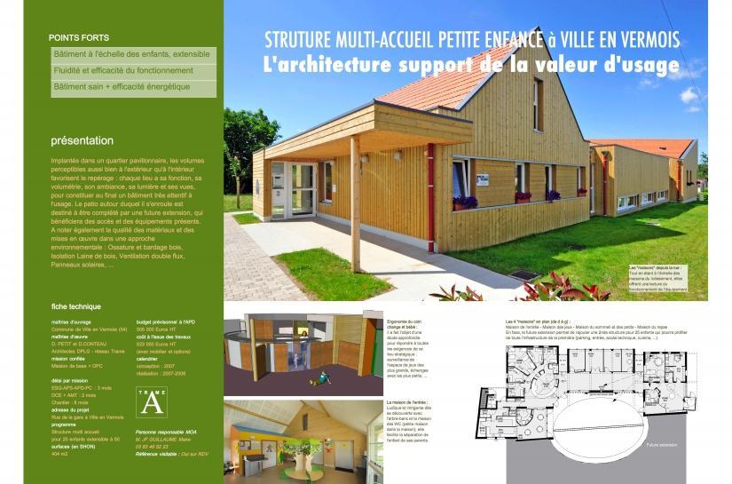 Structure Multi-Accueil pour 25 enfants - avec approche environnementale