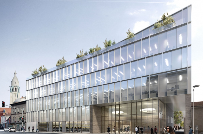 Programme mixte tertiaire et logements par SLA Architecture