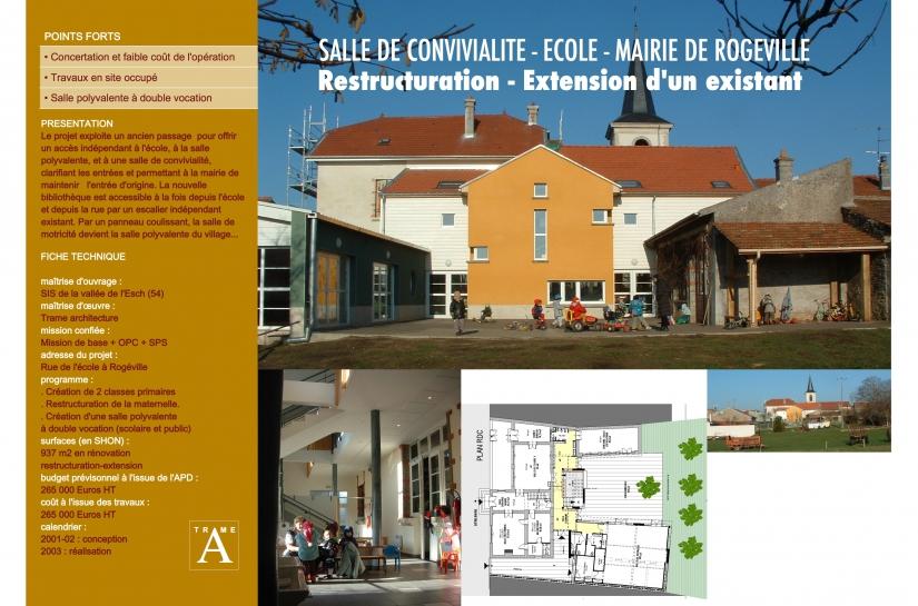 EXTENSION-RESTRUCTURATION D'UN GROUPE SCOLAIRE AVEC SALLE MIXTE (MOTRICITE + POLYVALENTE)