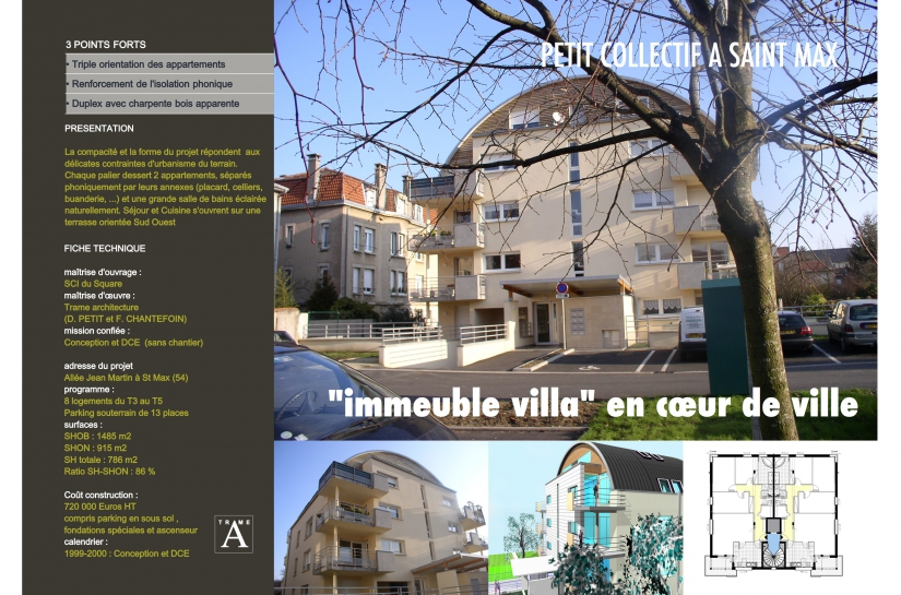 Immeuble urbain de 8 logements en centre ville