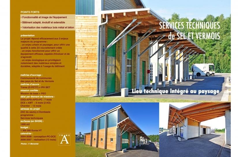 Bureaux et Bâtiment technique de type industriel pour les services techniques communautaires